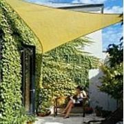 How To Make A Fabric Patio Cover Including Grommets Amp Eye Hooks Screws Sun Sail Shade Shade Sail Triangle Shade Sail