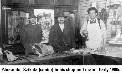 Lorain, butcher shop, 1900s