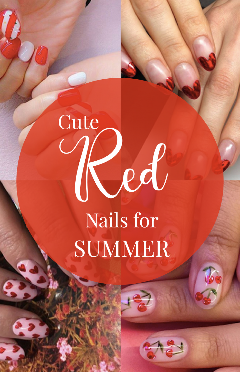 red hot nail design ideas for summer in be fashionabl blog