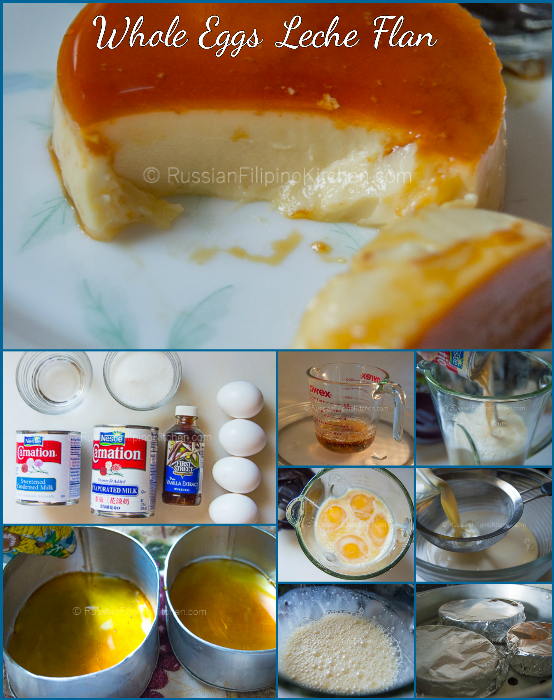 Learn to make Filipino style leche flan using whole eggs. The result is a rich, smooth, and ...