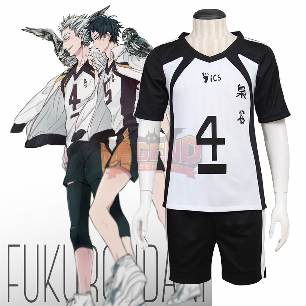Click To Buy Cosplay Legend Haikyuu Costume Fukurodani Academy Volley Black White Uniform Bokuto Kotar Cosplay Costumes Buy Cosplay Costume Accessories