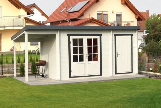 Pultdach Gartenhaus Maria Iso Mit Anbau Schleppdach Pultdach Schleppdach Hintergarten