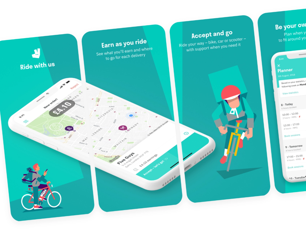 Deliveroo Rider App Screenshots Iphone App Design App Design