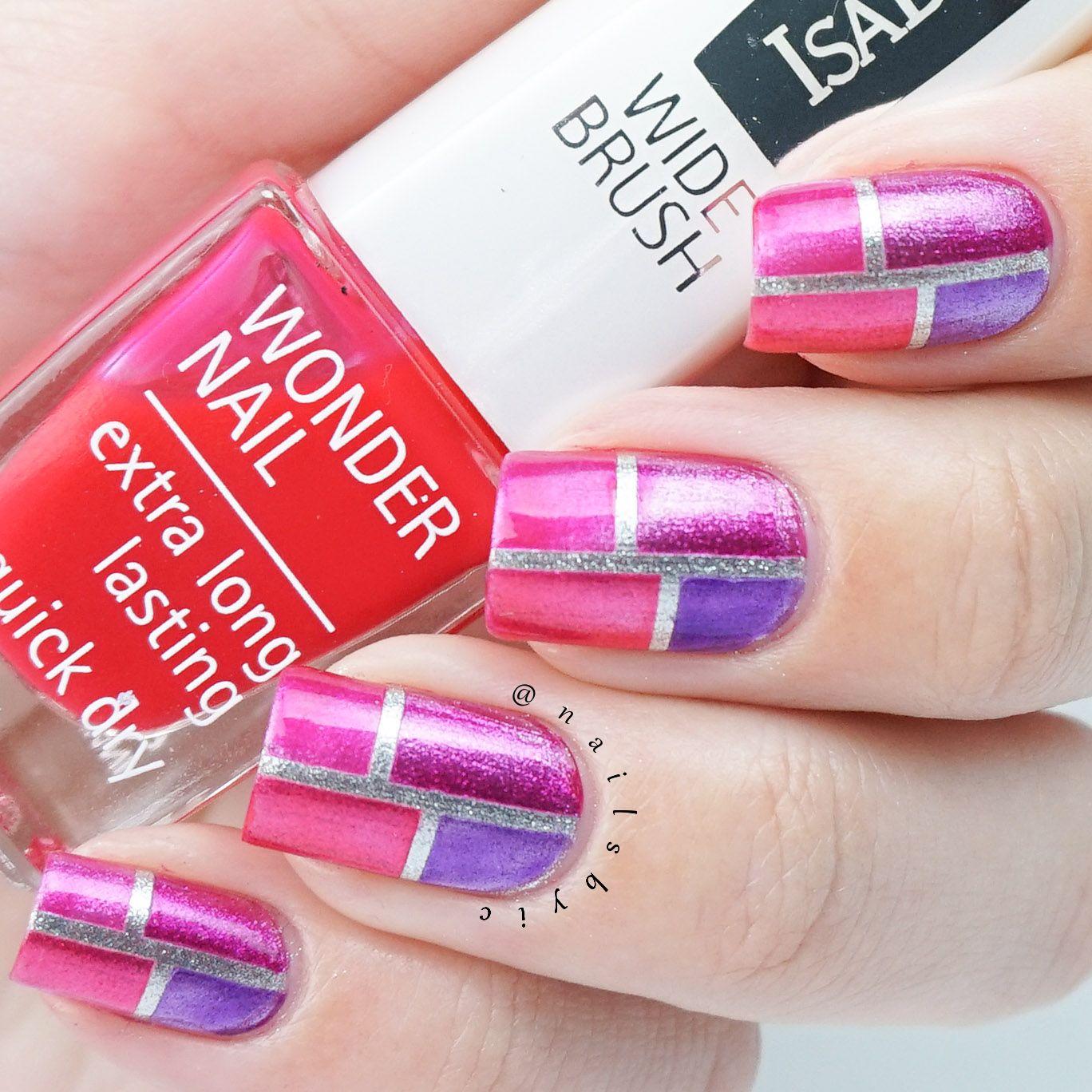 Isadora jelly pop nail gloss color block nail art with silver isadora jelly pop nail gloss color block nail art with silver base prinsesfo Image collections
