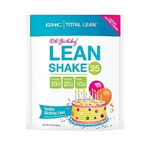 Lean Shake Birthday Cake By GNC Coconut Milk A Banana Overnight Oats And Scoopdelish Limited Edition