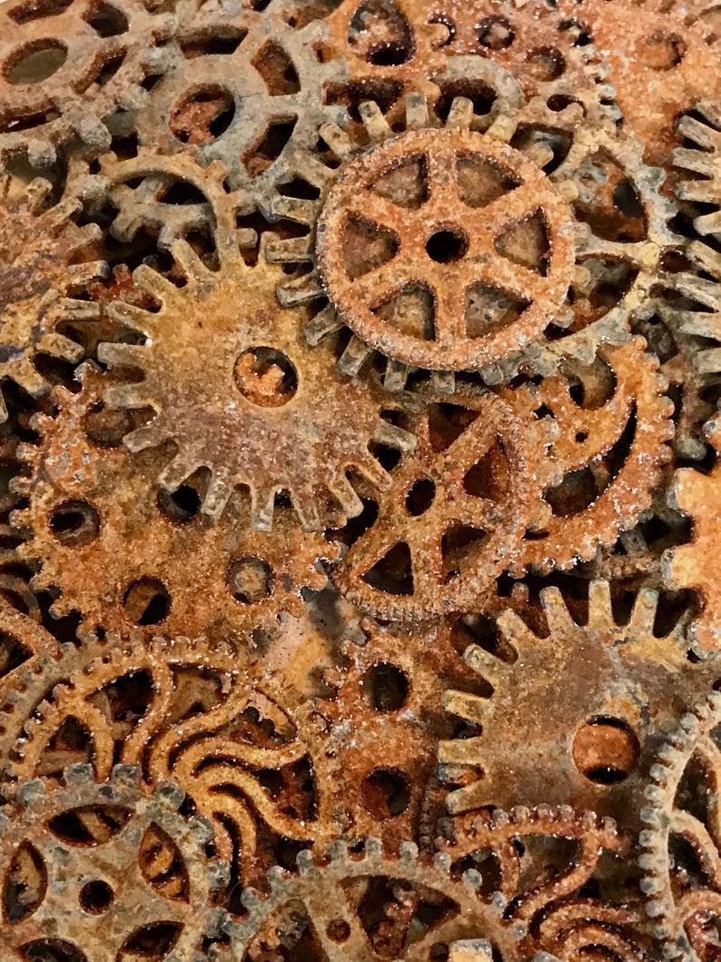 Gears Rusty Metal Steampunk Gears Cogs Sprockets Clock Gears