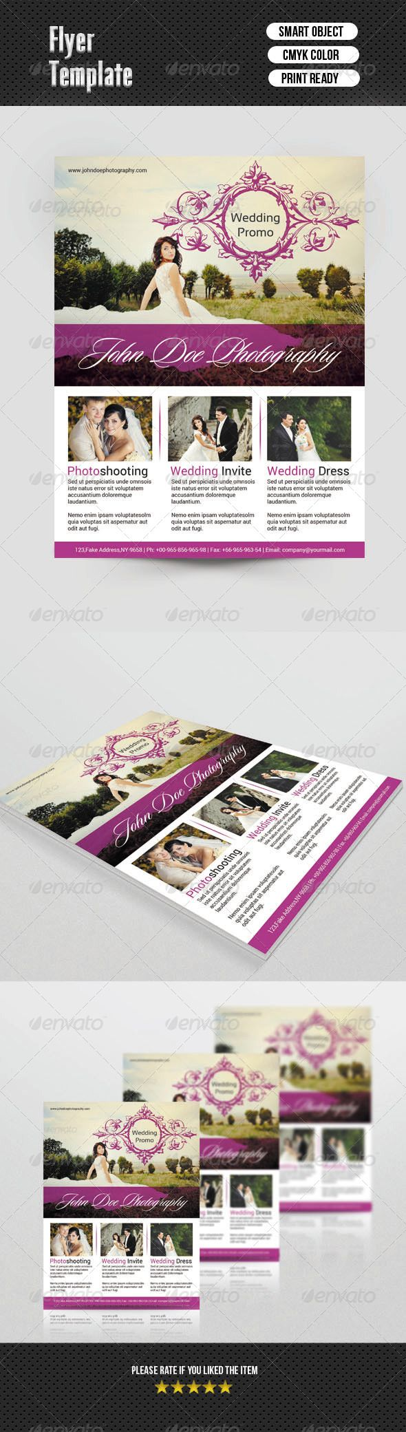 Wedding Photography Flyer — Photoshop Psd #psd #photo • Available Here →  Https://graphicriver.net/item/wedding-Photography-Flyer/6891487?ref=Pxcr