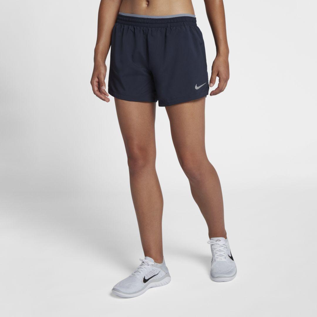 Nike Elevate Women S 5 Running Shorts Size L Obsidian Women