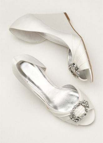Touch Of Nina Wedge Sandal Style PANNA Bridal Shoes