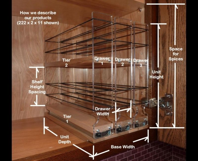 pullout spice racks Pull out spice rack, Diy spice rack