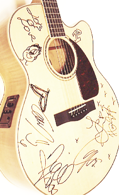 Guitar autographed 1D. I. Want. More. Than. ANYTHING.