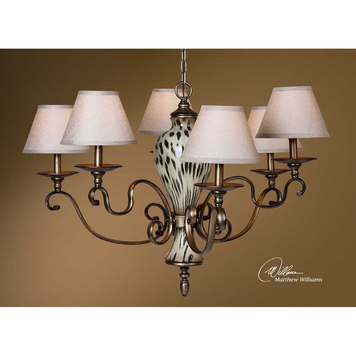 Uttermost malawi 6 light chandelier 21247 uttermost pinterest uttermost malawi 6 light cheetah print ceramic chandelier 21247 lowest price online on all uttermost malawi 6 light cheetah print ceramic chandelier arubaitofo Image collections