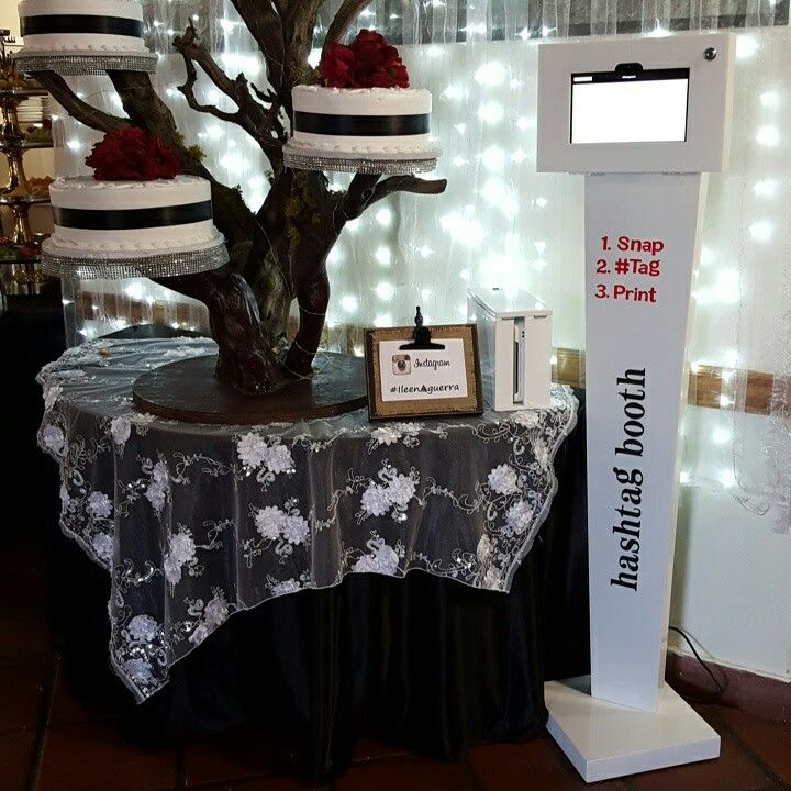 You and your guests take photos at your event and post them on Instagram with a specific #Hashtag. Print your photos from the Hashtag Booth.
