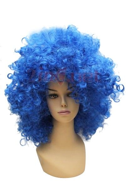 36.33Women s Blue Short  Afro  Cosplay  Wig  c0f54053c5