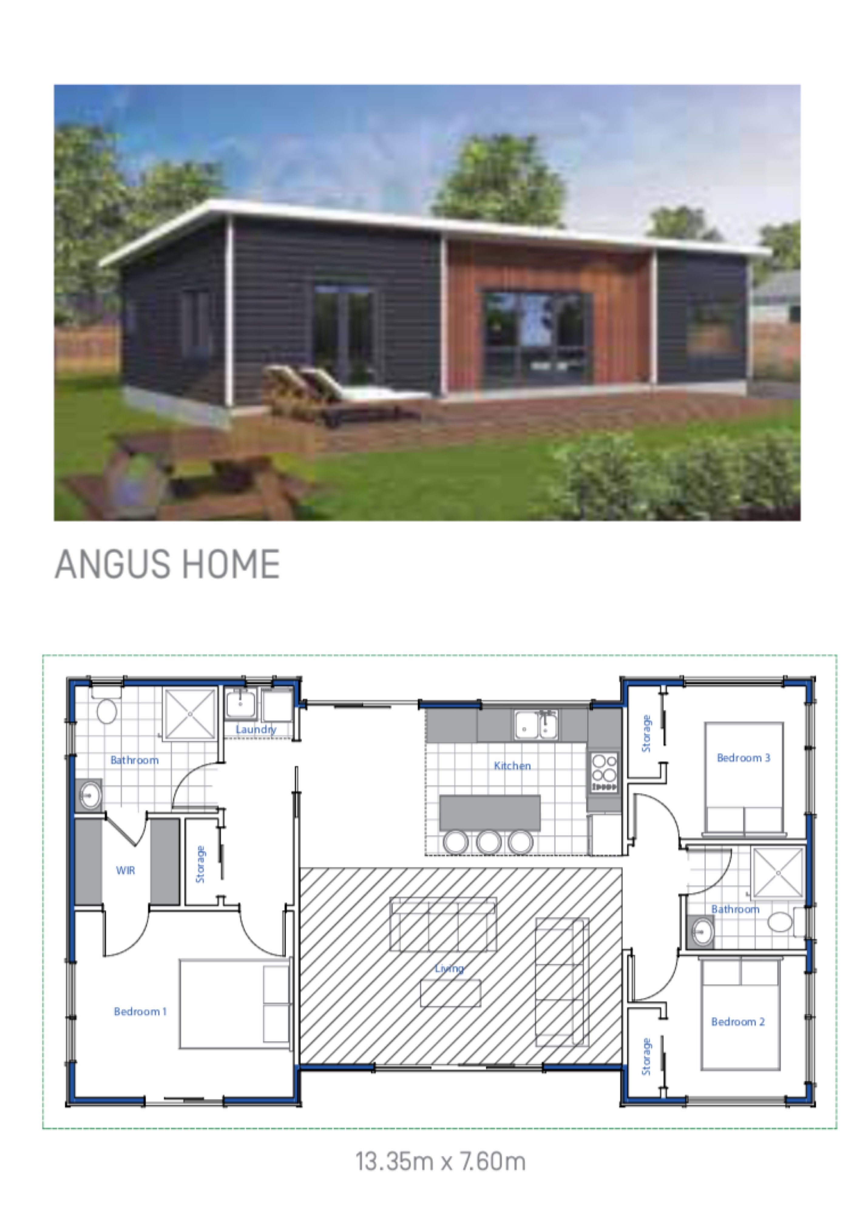 Bunnings Angus House Plans Open Plan Living House