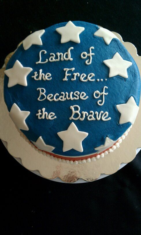 Memorial Day Cake By Theresa Nicely Mccoy Patriotic Cake