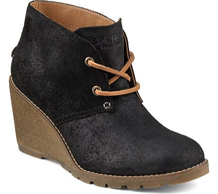 Women's Sperry Top-Sider Stella Prow Chukka Boot - Black Suede with FREE  Shipping &