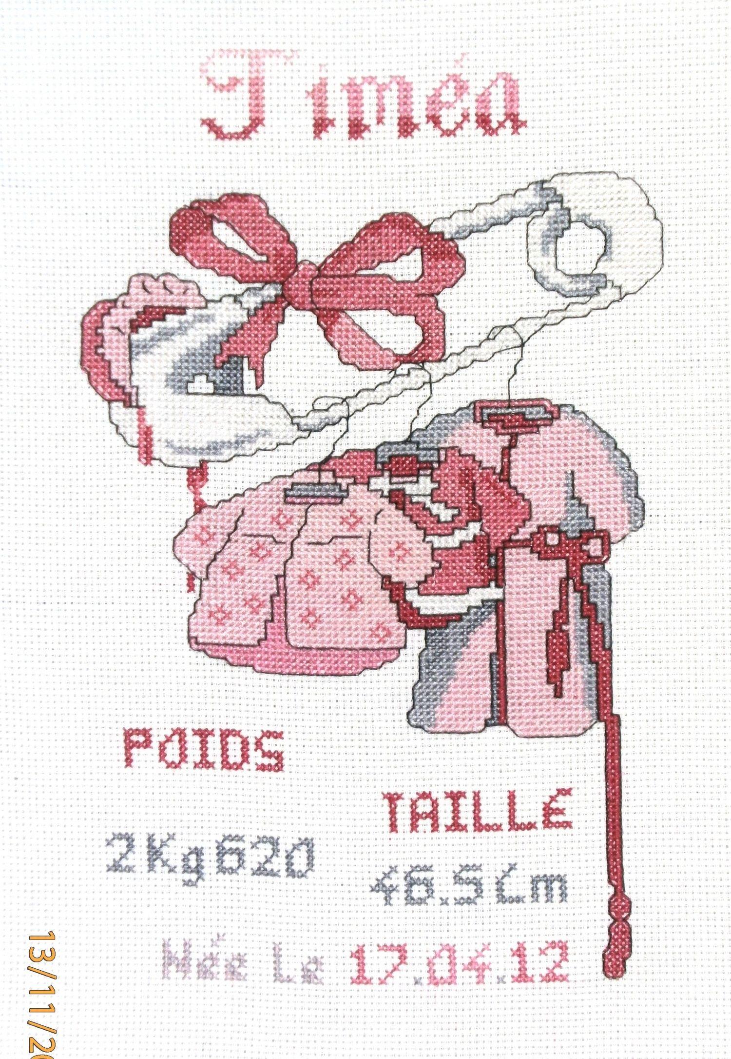 Point de croix naissance epingle naissance fille 89 pinterest point de croix croix et points - D m c broderie grilles gratuites ...