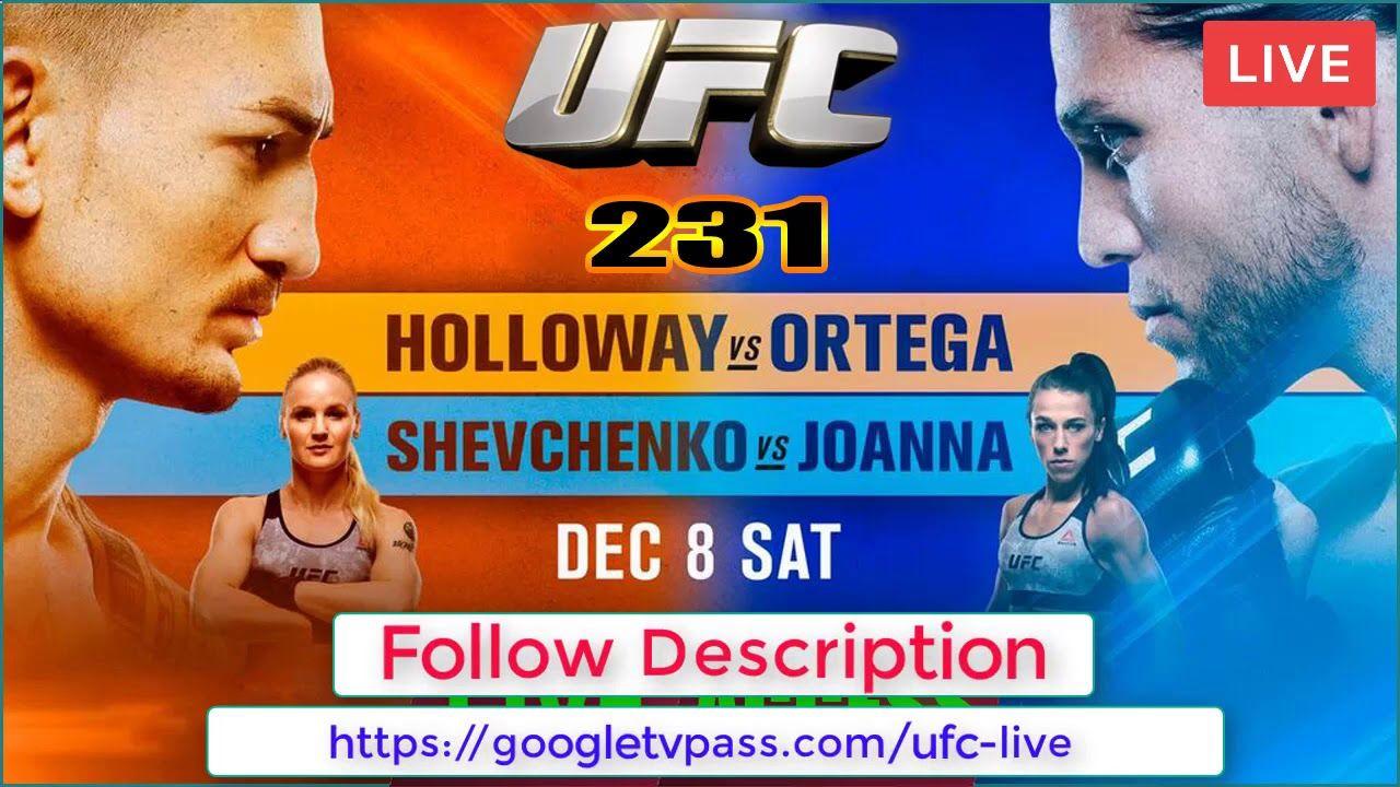 UFC 231Jedrzejczyk vs Shevchenko Live Stream Free