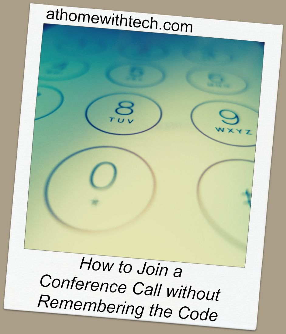 How to Join a Conference Call without Remembering the Code