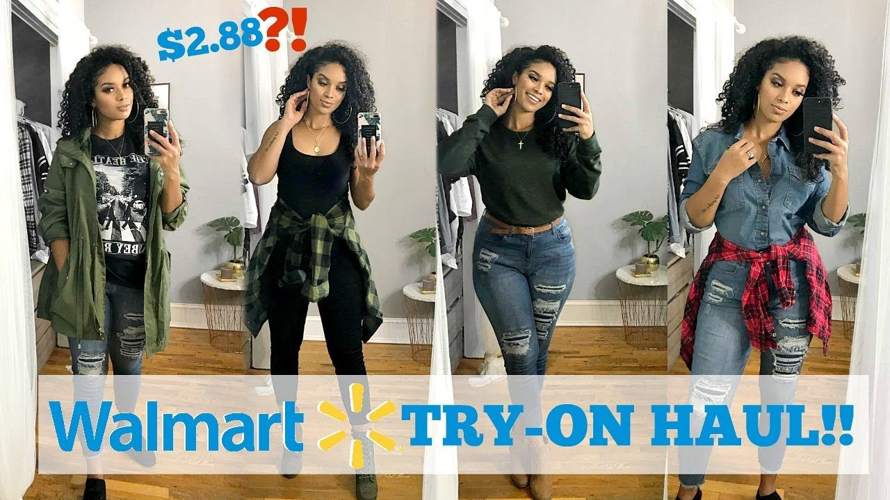 3045c41157b HUGE WALMART CLOTHING HAUL + TRY ON! 10+ OUTFITS!!