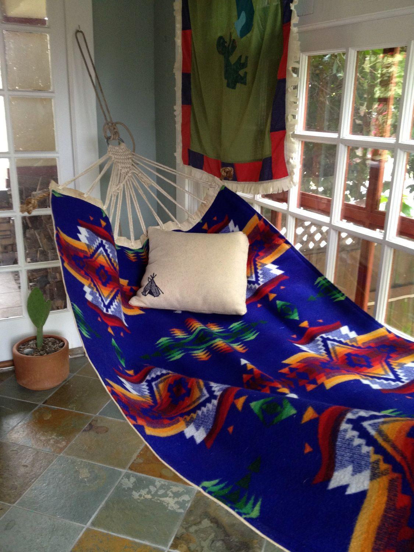 Vintage indian summer hammock wwii navy sailors canvas hammock