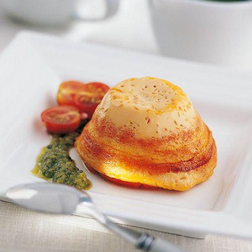 Recetas fáciles y ligeras -Flan de tomate a la albahaca- TELVA