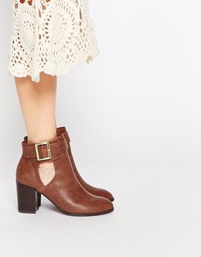 ASOS   ASOS EVERSLEIGH Cut Out Ankle Boots at ASOS