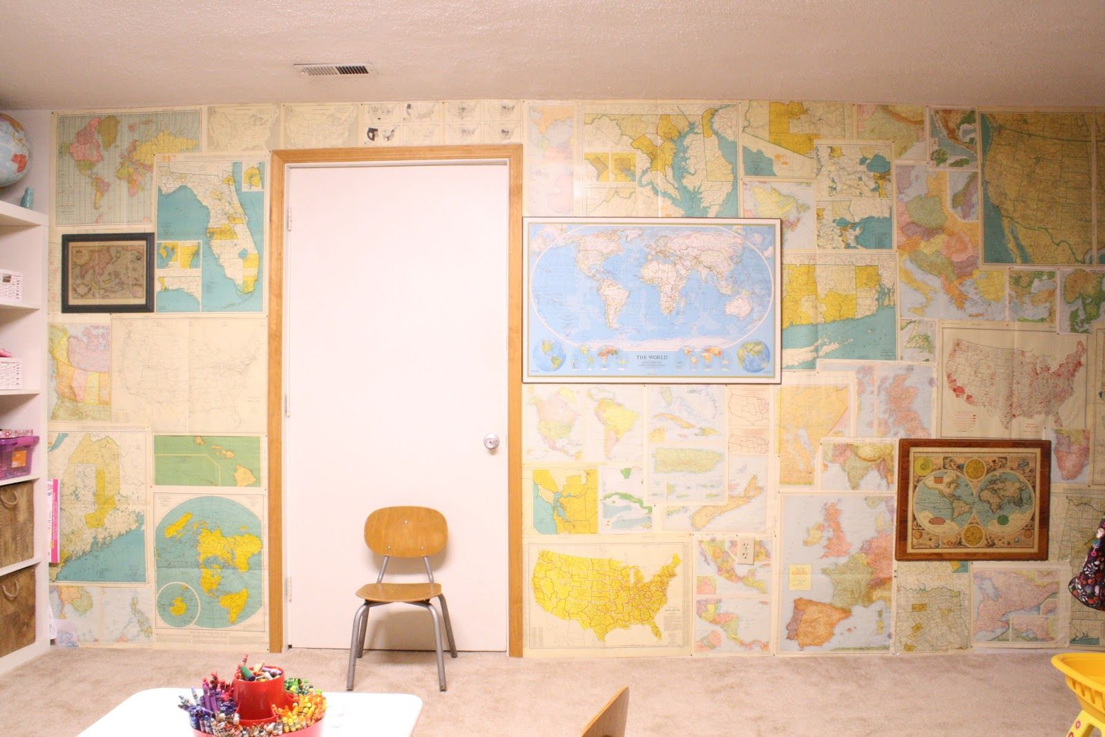 Hallway wallpaper or paint  Primitive u Proper Which Way to the USSR A Map Wall in the