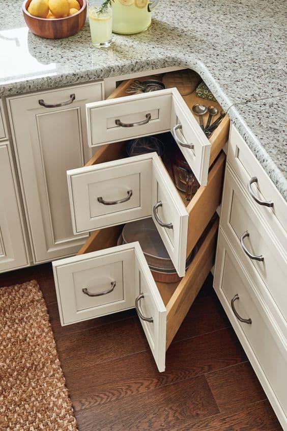 23 Kitchen Corner Cabinet Ideas For 2020 In 2020 Kitchen Design Small Kitchen Renovation Kitchen Cabinet Design