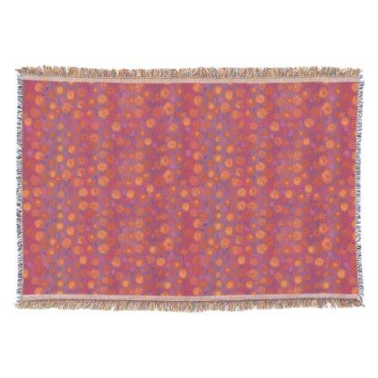 #Candy Field abstract floral pattern pink orange Throw Blanket - #floral #gifts #flower #flowers