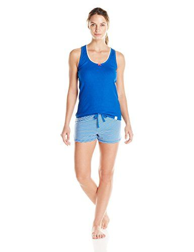 Tommy Hilfiger Women's Tank Lace Short, Nautical Blue/River Feeder Stripe, Medium Tommy Hilfiger http://www.amazon.com/dp/B00Q4UJ8D0/ref=cm_sw_r_pi_dp_UGvpvb003D61W