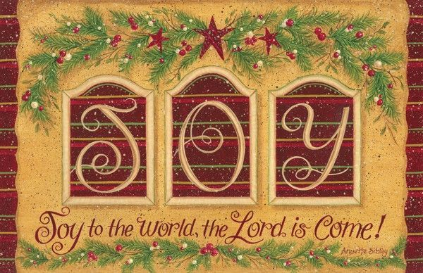 Joy to The World Decorative Country Mat
