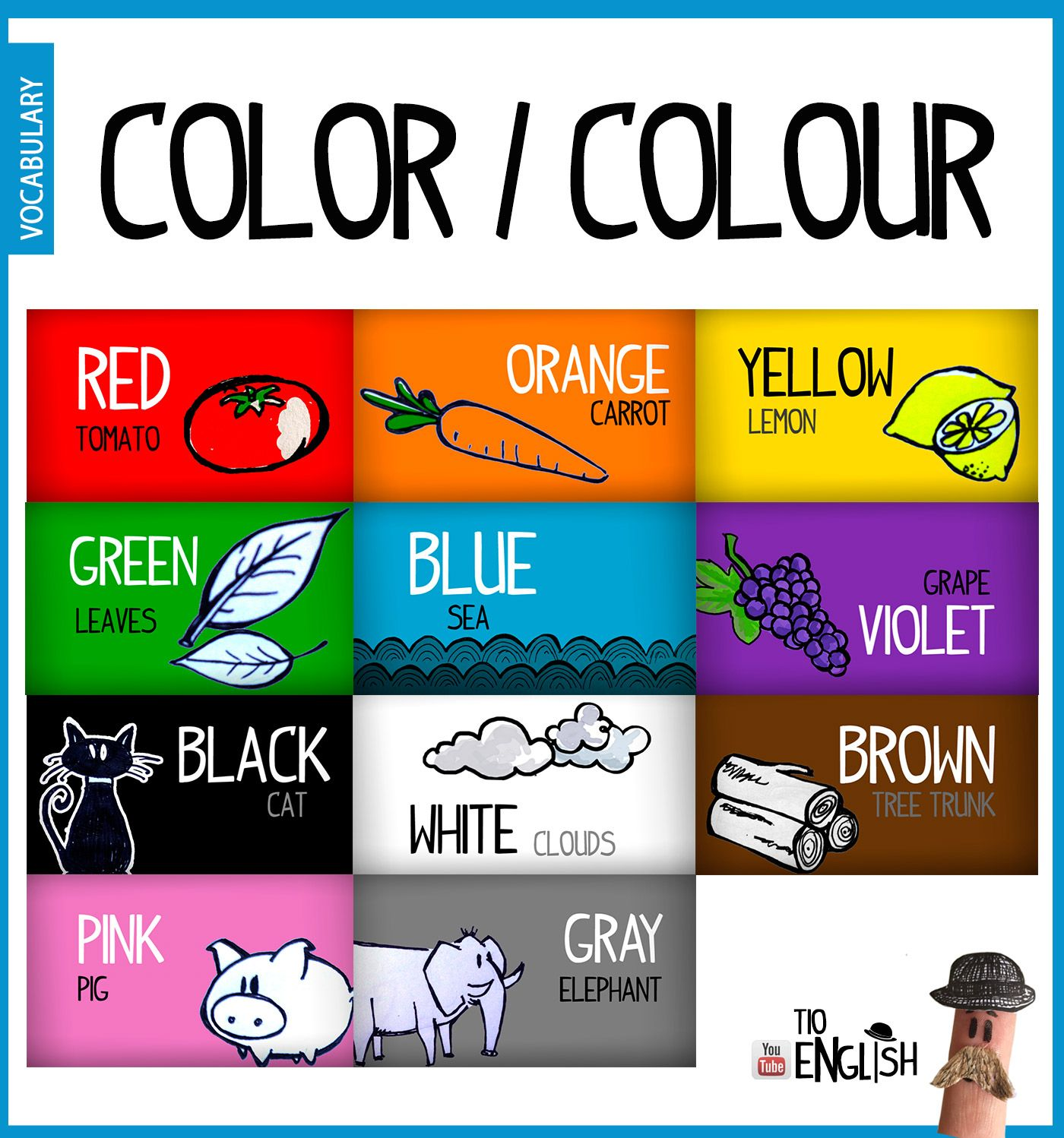 Colors In English Name In English Of Colours Initial