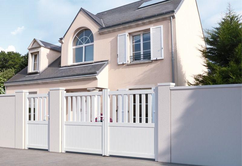 Portail en aluminium - Haut 1,40 m menuiserie Pinterest - portail de maison en fer