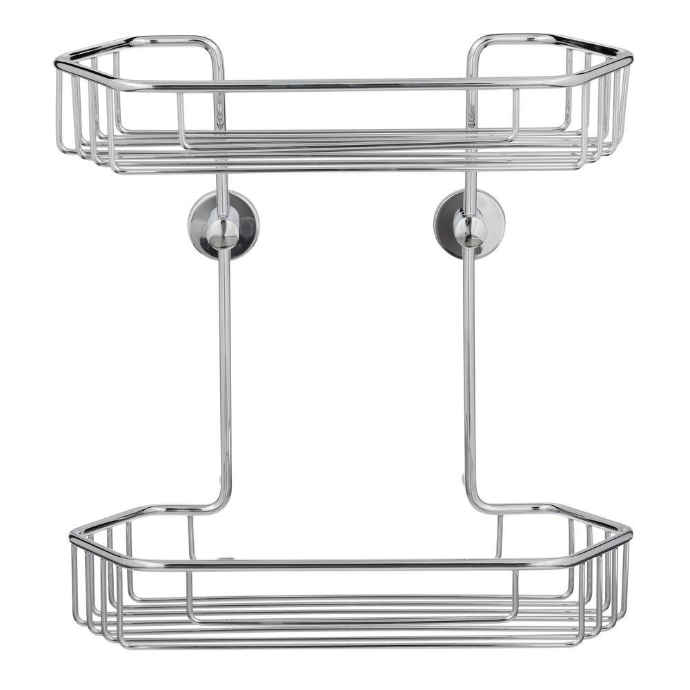 Home Depot Shower Caddy Interesting No Drilling Required Draad Rustproof Solid Brass Shower Caddy 11 In Design Decoration