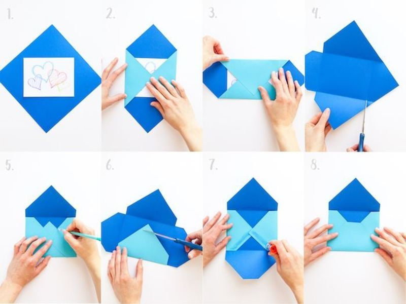 Briefumschlag Falten Interessante Diy Ideen Und Anleitungen In 2020 Briefumschlag Basteln Briefumschlag Falten Briefumschlag