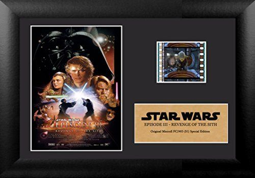 Filmcells 7 5 Star Wars Episode Iii Revenge Of The Sith Framed Film Cells Special Edition Display Black Star Wars Episodes Revenge Sith