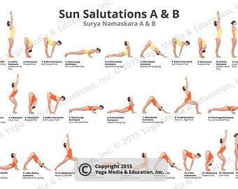 printable ashtanga primary series yoga poster  etsy in