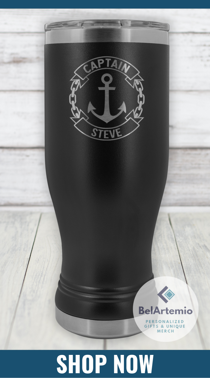 Love this 20oz boho tumbler personalized for a boat ...
