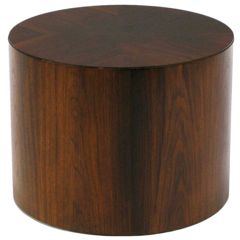 Peachy Rosewood Cylinder Drum End Table With Book Matched Top Home Interior And Landscaping Eliaenasavecom