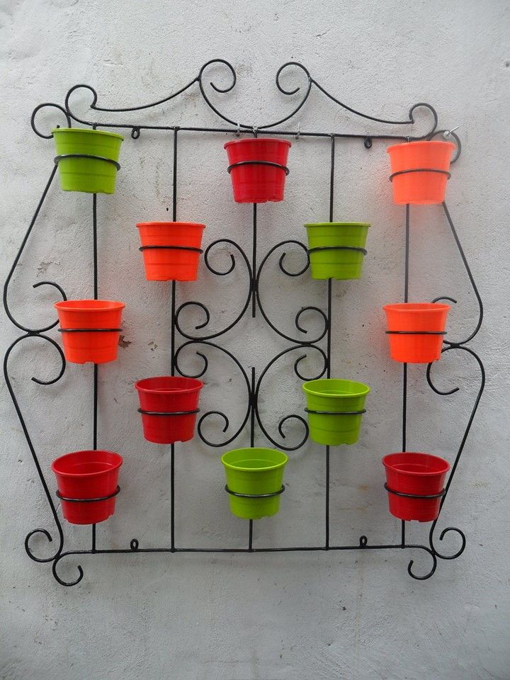 Resultado de imagen para porta macetas en hierro - Macetas de pared ...