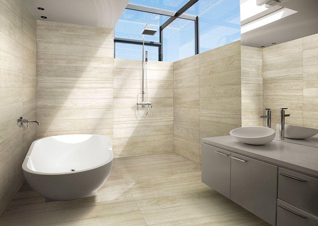Caesar Verse Sugar Rectified 37 5x75 Cm Abws Porcelain Stoneware Stone 37 5x75 On Bathroom39 Com At 45 Euro S Natural Stone Tile Flooring Tile Design