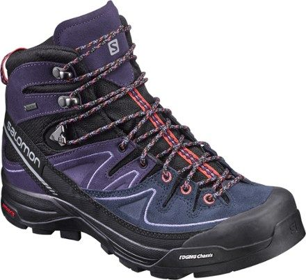 Salomon Women's X Alp Mid LTR GTX Hiking Boots Black/Nightshade 10