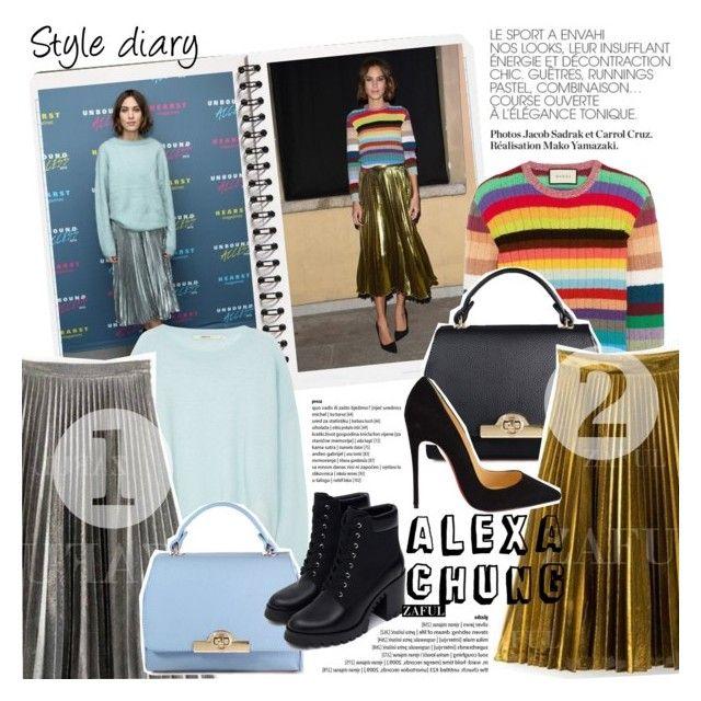 """Style Diary: Alexa Chung"" by vanjazivadinovic ❤ liked on Polyvore featuring J Brand, Christian Louboutin, Zara, alexachung, polyvoreeditorial, Poyvore and zaful"