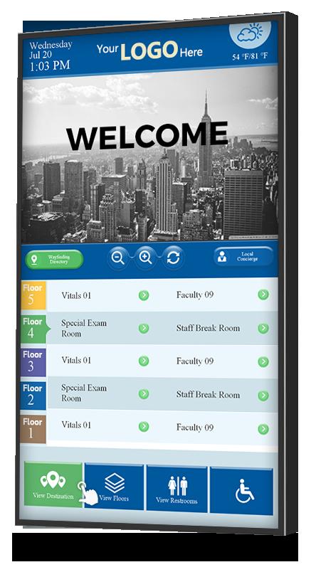 Touch Screen Lobby Digital Directory Digital Signage Directory Signage Signage