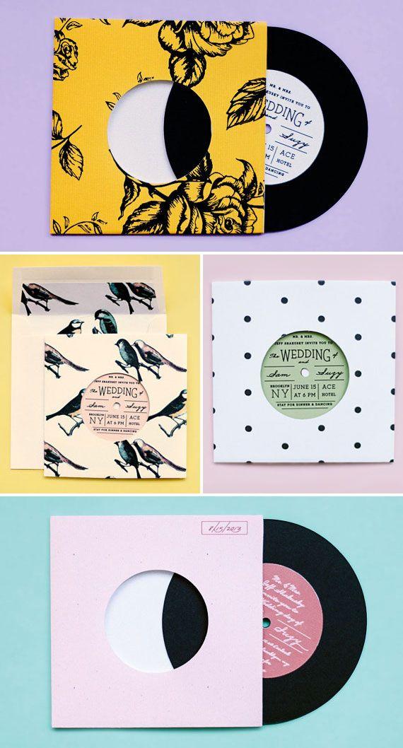 Vinyl record album style wedding invitations ello there vinyl record album style wedding invitations ello there stopboris Gallery