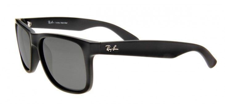 Ray Ban RB4165 Justin Espelhado 55 - Cinza Fosco - 622/6G