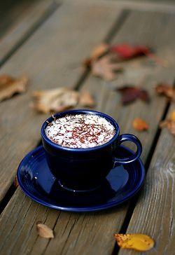 rusticmeetsvintage:    autumn coffee,by~moniqe~, via Flickr