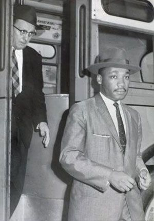 Montgomery Bus Boycott 1955 The Rev Martin Luther King Jr And